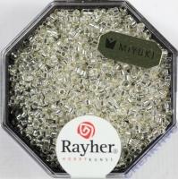 Delica Rocailles 1,6mm mit Silbereinzug bergkristall