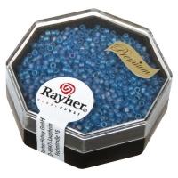 Delica Rocailles 1,6mm Rainbow transparent matt azurblau