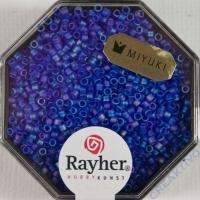 Delica Rocailles 1,6mm Rainbow transparent matt royalblau