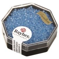 Delica Rocailles 1,6mm Rainbow transparent matt aquamarin