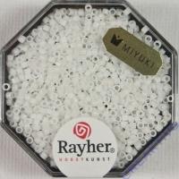 Delica Rocailles 1,6mm opak matt schneeweiß