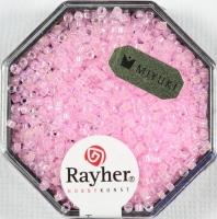 Delica Rocailles 1,6mm transparent Rainbow rosé