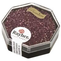 Delica Rocailles 1,6mm transparent Rainbow violett hell
