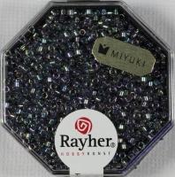 Delica Rocailles 1,6mm transparent Rainbow lichtblau