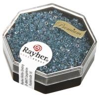 Delica Rocailles 1,6mm transparent Rainbow azurblau