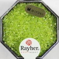 Delica Rocailles 1,6mm transparent Rainbow apfelgrün