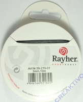 Rayher Organzaband 3mm 10m schwarz