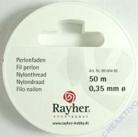 Rayher Perlonfaden 0,35mm 50m weiß