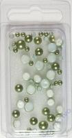 Glas-Halbperlen 3+5+6mm Grün