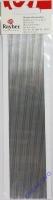 Rayher Wachs-Zierstreifen 20cm 1mm silber 30St