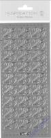 Stickerbogen 25 23x10cm silber