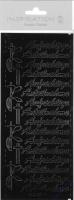 Stickerbogen Aufrichtige Anteilnahme 23x10cm schwarz
