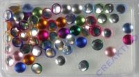 Acryl-Halbperlen gefrostet 5mm bunt gemischt