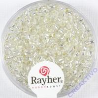 Rocailles 2,6mm ø mit Silbereinzug silber