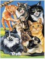 Malen nach Zahlen Junior - Spielende Katzen