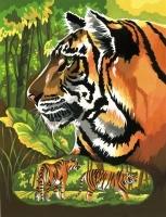 Malen nach Zahlen Junior - Tiger Portrait
