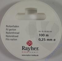 Rayher Perlonfaden 0,25mm 100m weiß