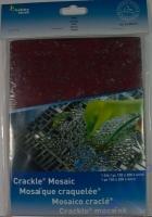 Crackle Mosaik Platte 15x20cm rot