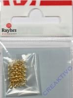 Rayher Quetschperlen 1,8/2,5mm 35St. gold