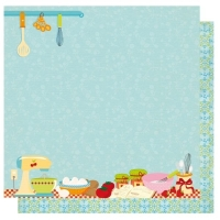 Scrapbookingpapier Moms Kitchen Baking (Restbestand)