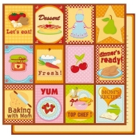 Scrapbookingpapier Moms Kitchen Cards (Restbestand)