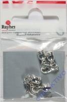 Rayher Schmuckverschluss Kappel 4mm 2St. silber