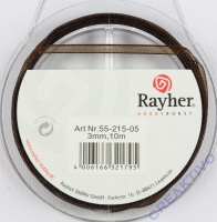 Rayher Organzaband 3mm 10m braun