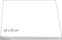 Scrapbooking Album geschraubt, weiß 32x35 cm für Format 30,5x30,5cm