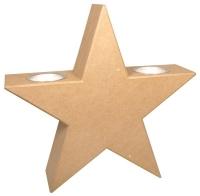 Pappmaché Stern stehend m.Alueinsätzen