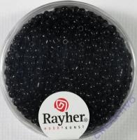 Rocailles 2 mm ø opak schwarz