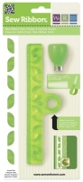 Sew Ribbon Punch & Stencil Set-Leaf