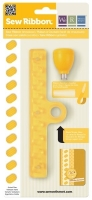 Sew Ribbon Punch & Stencil Set-Shoelace