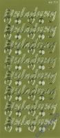 Rayher Stickerbogen Einladung 22x9cm goldf.