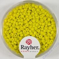 Rocailles 2 mm ø opak gelb