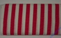 Heyda Krepp 50x250cm Streifen rot/weiß