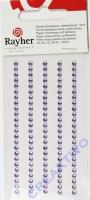 Rayher Plastik-Strassteine 3mm selbstklebend flieder 120St