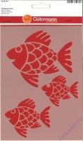 Schablone Fische 14x21cm