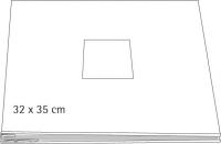 Scrapbooking Album mit Fotoausschnitt geschraubt, weiß 32x35 cm