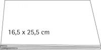 Scrapbooking Album geschraubt, weiß 16,5x25,5 cm für DIN A5 quer