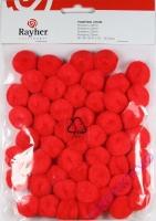 Pompons 20mm 50 Stück rot