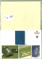 Karen Marie Passepartout-Karte Zweige 4 Stück elfenbein