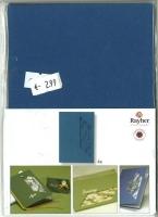 Karen Marie Passepartout-Karte Zweige 4 Stück royalblau