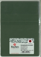 Karen Marie Passepartout-Karte Herz 4 Stück piniengrün