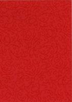 Noblesse Fotokarton mit Glanzlack-Ornamenten DIN A4 mingrot (Restbestand)