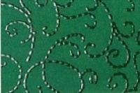 Noblesse Fotokarton mit Glanzlack-Ornamenten DIN A4 tannengrün (Restbestand)