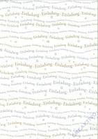 Bastelkarton Schriftzug Einladung DIN A4 gold/silber