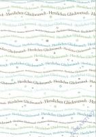 Bastelkarton Schriftzug Herzlichen Glückwunsch DIN A4 türkis/braun (Restbestand)