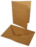 Doppelkarte + Umschlag groß 2er-Set karamell