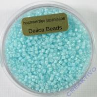 Pracht Delica Rocailles 2mm 9g transparent aqua
