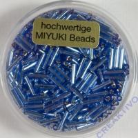 Japanische Miyuki-Stifte 6mm mit Silbereinzug hellblau